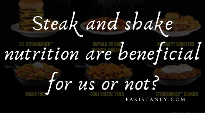 steak n shakes nutrition